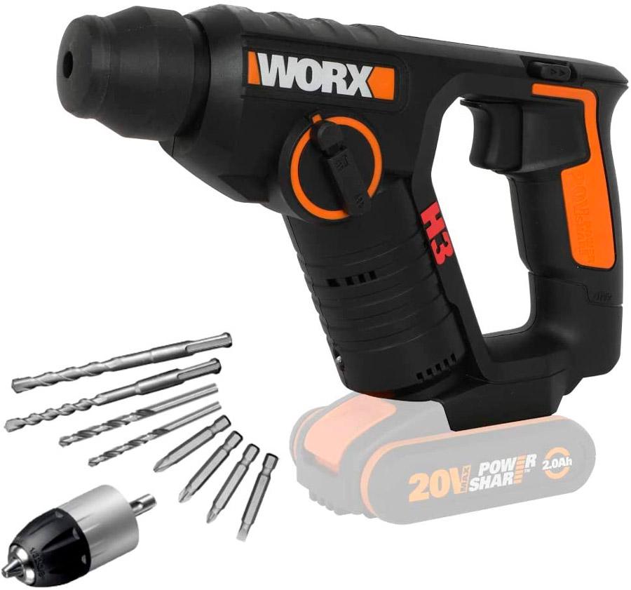 taladro a batería barato worx wx394.91 h3
